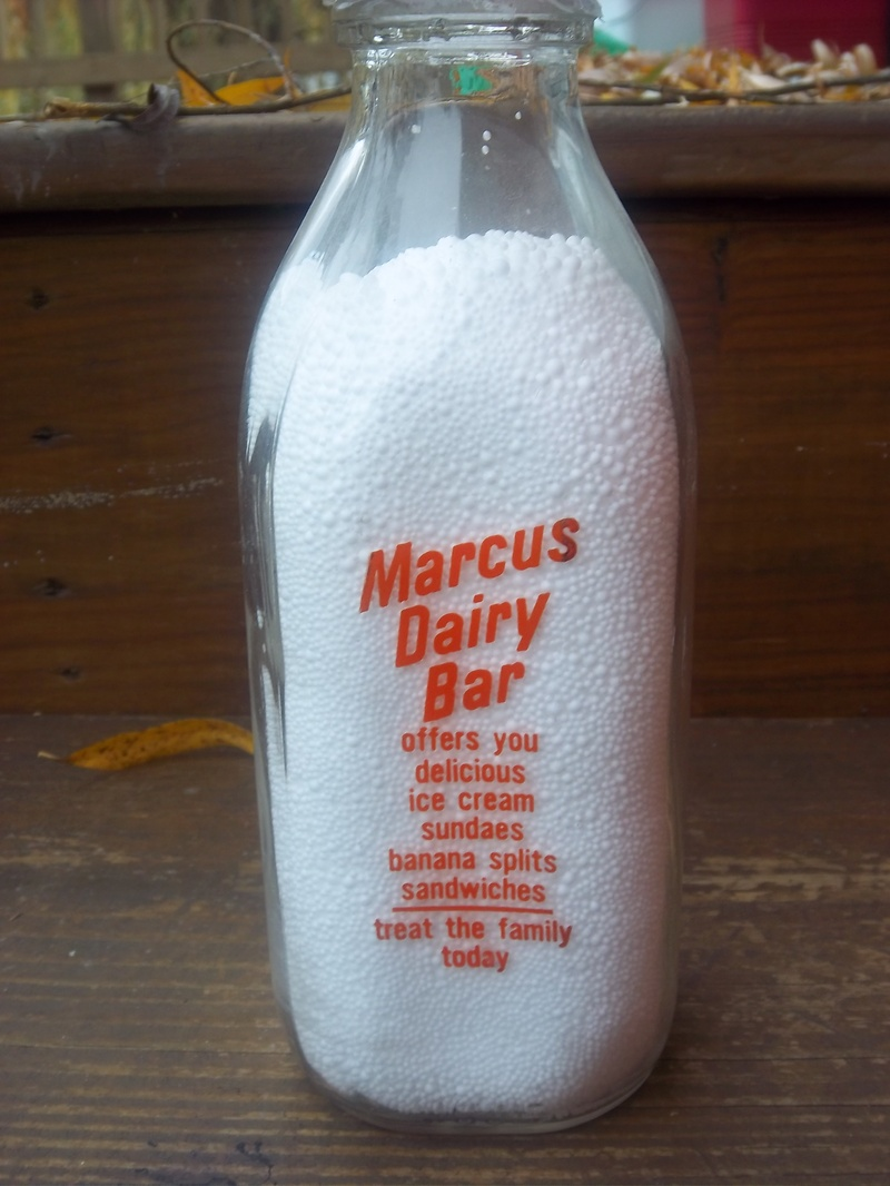 Marcus Dairy bottle--rear view