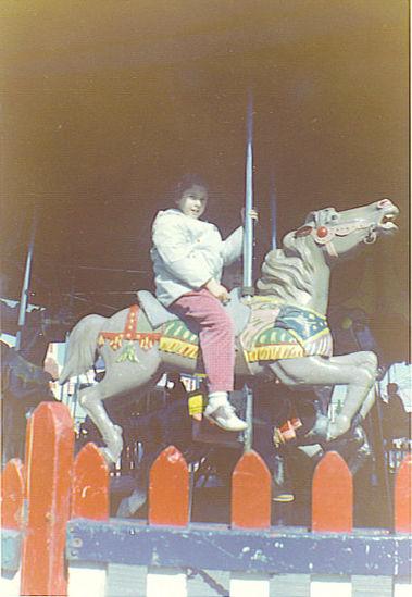 Sara on Merry-go-Round at the Danbury Fair