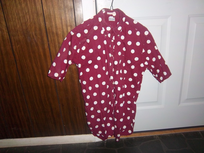Big White Polka-Dot Shirt--1966